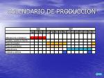 calendario de produccion