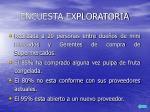 encuesta exploratoria