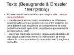 texto beaugrande dressler 1997 2005