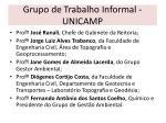 grupo de trabalho informal unicamp