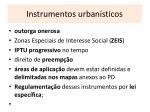 instrumentos urban sticos