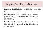 legisla o planos diretores