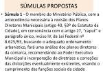 s mulas propostas