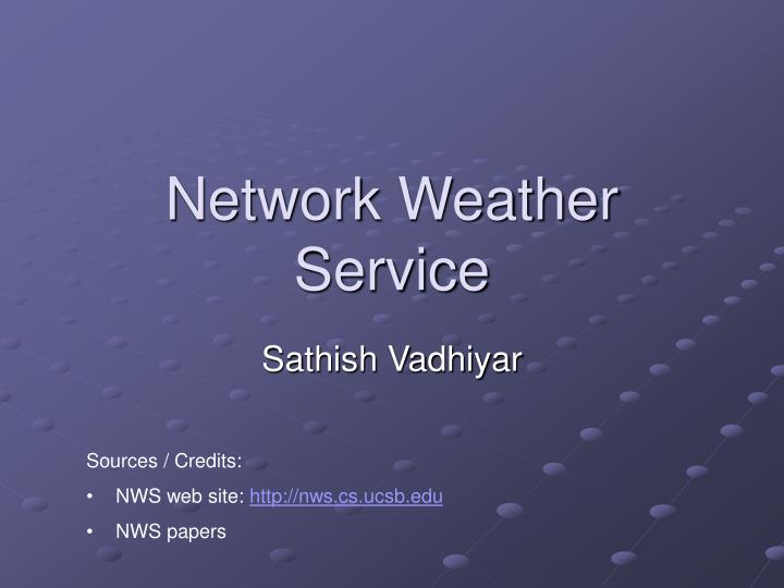 network weather service n.