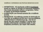 evid ncia x experiencia nas praticas neonatais na ecn3