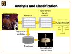 analysis and classification