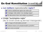 en god konstitution cont d1