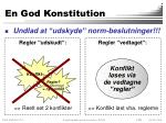 en god konstitution