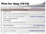 plan for idag 19 102