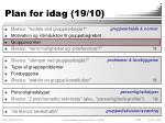 plan for idag 19 103