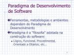 paradigma de desenvolvimento de software