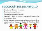 psicolog a del desarrollo