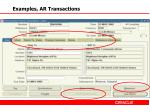 examples ar transactions