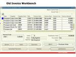 old invoice workbench