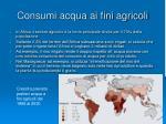 consumi acqua ai fini agricoli