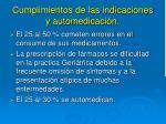 cumplimientos de las indicaciones y automedicaci n