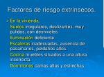 factores de riesgo extr nsecos