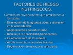 factores de riesgo instrinsecos