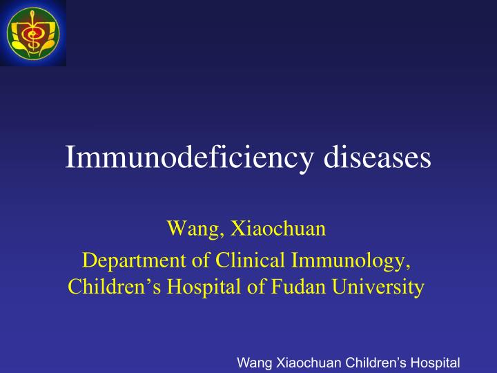 immunodeficiency diseases n.