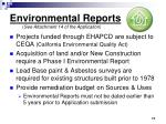 environmental reports see attachment 14 of the application