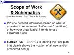 scope of work schematics see attachment 17 27 in the application