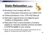 state relocation cont