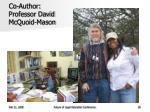 co author professor david mcquoid mason