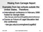 missing from carnegie report