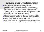 sullivan crisis of professionalism