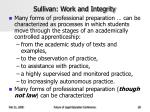 sullivan work and integrity