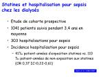 statines et hospitalisation pour sepsis chez les dialys s
