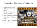 conclusion questions of definition