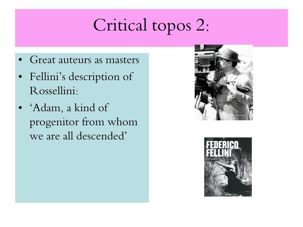 Critical topos 2: