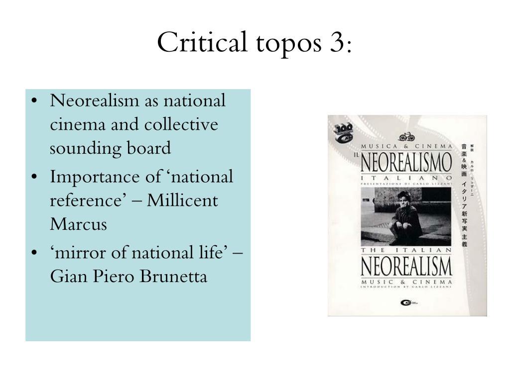 Critical topos 3: