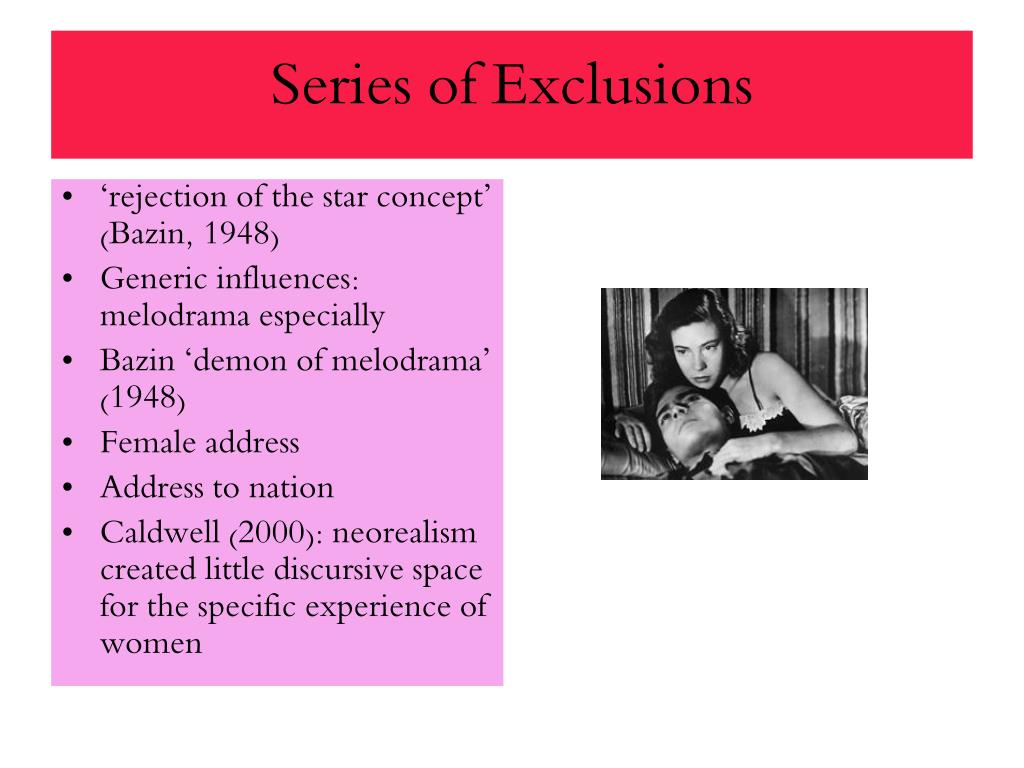 Series of Exclusions