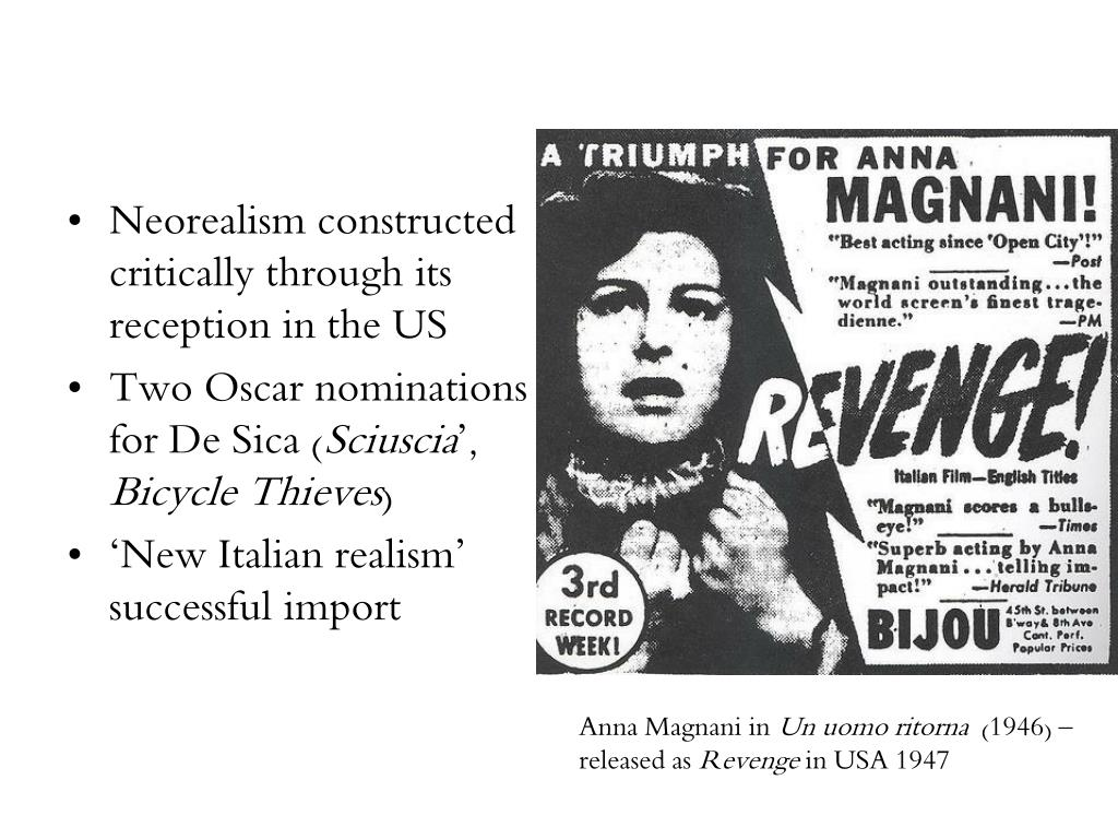 Neorealism constructed critically through its reception in the US