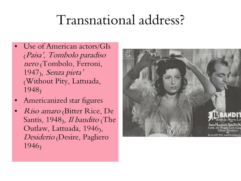 Transnational address?