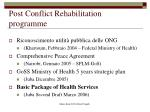 post conflict rehabilitation programme1