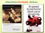 differentiation price quality attributes
