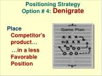 positioning strategy option 4 denigrate