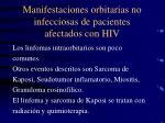 manifestaciones orbitarias no infecciosas de pacientes afectados con hiv