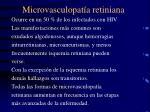 microvasculopat a retiniana