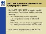 iaf task force on guidance on applying iso 19011