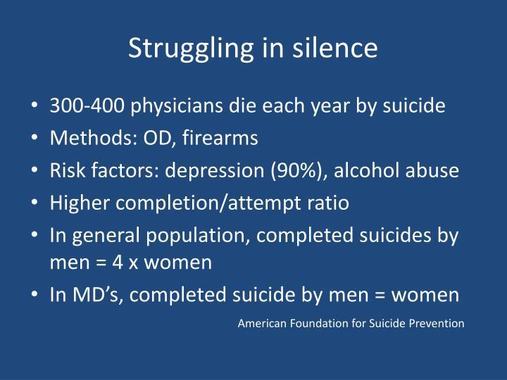 Struggling in silence