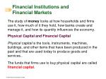 financial institutions and financial markets1