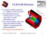 cleo iii detector