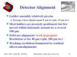 detector alignment