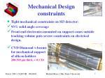 mechanical design constraints