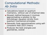 computational methods ab initio