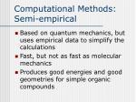 computational methods semi empirical